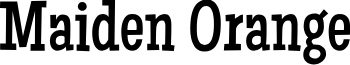 Maiden Orange font
