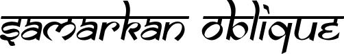 Preview image for Samarkan Oblique