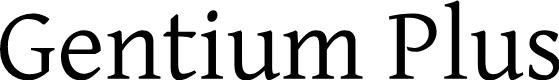 Preview image for Gentium Plus