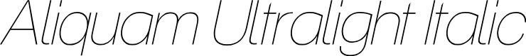 Preview image for Aliquam Ultralight Italic