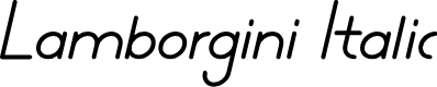 Preview image for Lamborgini Italic