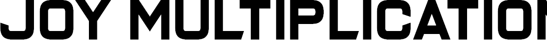 Preview image for Joy Multiplication Font