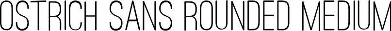 Ostrich Sans Rounded Medium