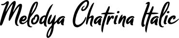 Preview image for Melodya Chatrina Italic Font