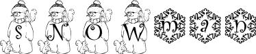 Preview image for snowman1_kg Font
