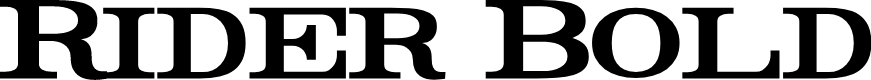 Preview image for Rider Bold Font