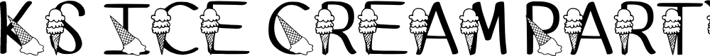 Preview image for Ks Ice Cream Party Regular Font