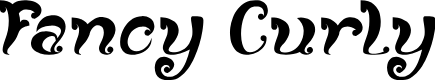 Preview image for Fancy Curly Font