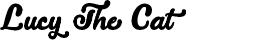 Preview image for Lucy the Cat Regular Font