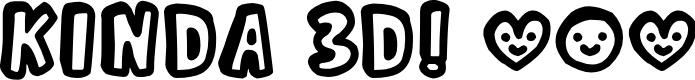 Preview image for Kinda 3D Font