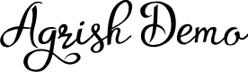 Preview image for Agrish Demo Font