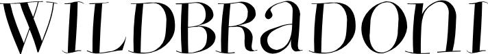 Preview image for WildBradoni Font