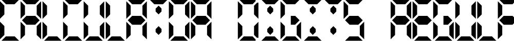 Preview image for Calculator Digits Regular Font