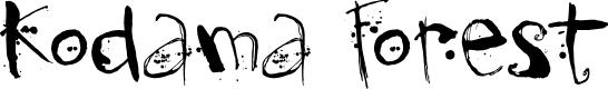 Preview image for DK Kodama Forest Regular Font