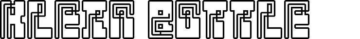 Preview image for Klein Bottle Regular Font