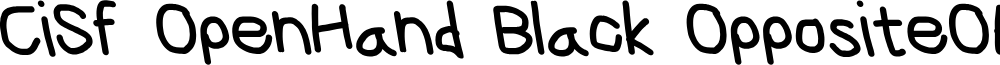 CiSf OpenHand Black OppositeOblique