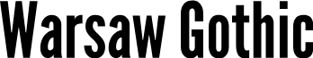 Warsaw Gothic font