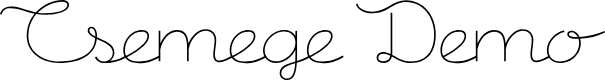Preview image for CsemegeDemo Font
