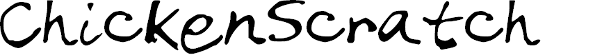 Preview image for Chicken_Scratch Font