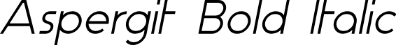Aspergit Bold Italic