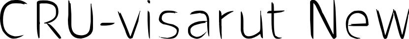 Preview image for CRU-visarut New Font