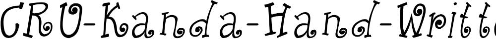 Preview image for CRU-Kanda-Hand-Written-Italic