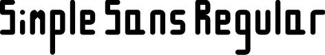 Preview image for Simple Sans Regular Font