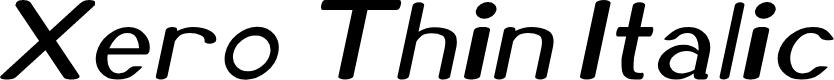 Preview image for Xero Thin Italic