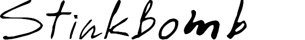 Preview image for StinkBomb Font