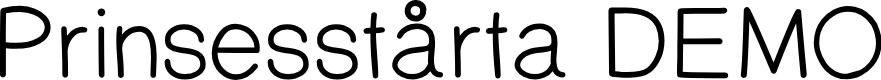 Preview image for PrinsesstartaMediumDEMO Font