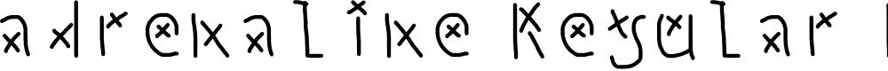 Preview image for adrenaline Regular Fonty Font