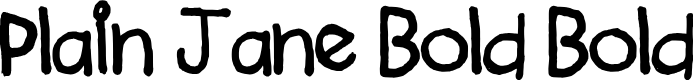 Preview image for Plain Jane Bold Bold Font