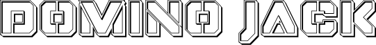 Domino Jack Engraved