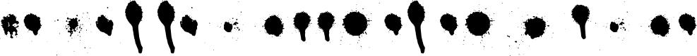 Preview image for Drips Splatters Regular Font