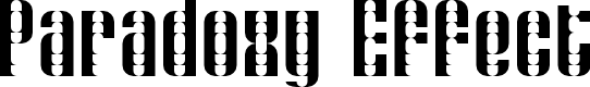 Preview image for Paradoxy Effect Regular Font