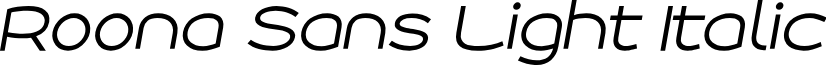 Roona Sans Light PERSONAL Italic
