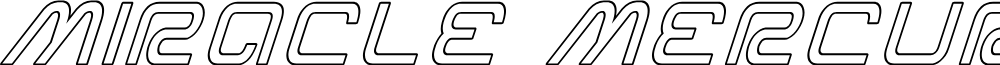 Miracle Mercury Outline Italic