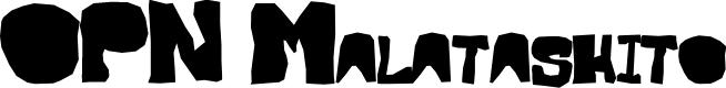 Preview image for OPN Malatashito Font