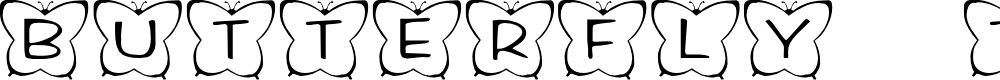 Preview image for KR Butterfly Two Font