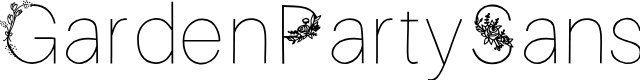 Preview image for GardenPartySans Font