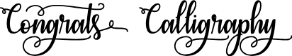 Preview image for Congrats Calligraphy Font