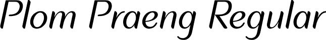 Preview image for Plom Praeng Regular Font