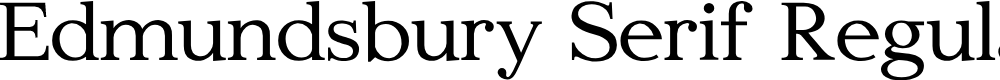 Preview image for Edmundsbury Serif Regular Font