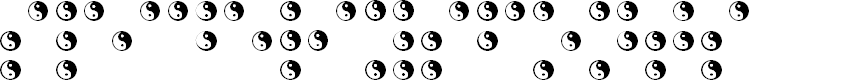Preview image for BRAILLE TAIJITU Font