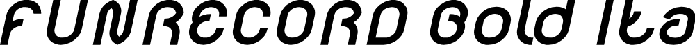 FUNRECORD Bold Italic