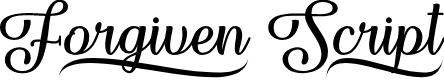 Preview image for Forgiven Script Regular Font