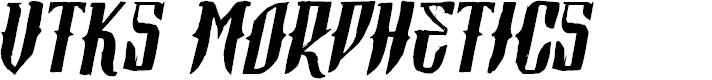 Preview image for Vtks Morphetics 2 Font