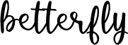 betterfly font