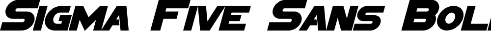 Sigma Five Sans Bold Italic