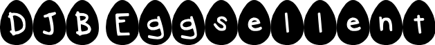 DJB Eggsellent font